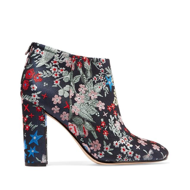 Sam Edelman Cambell Floral Brocade Ankle Boots