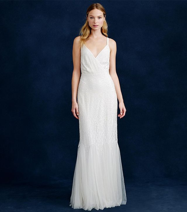 J.Crew Harper Beaded Mermaid Gown