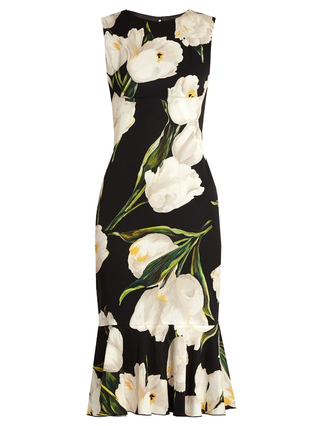 Dolce & Gabbana Stretch Silk Floral Dress