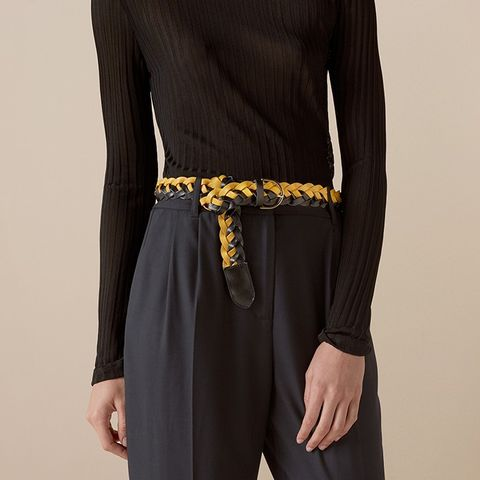 Marlow Leather Woven Belt