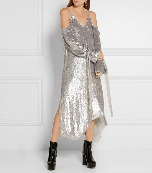 Magda Butrym Lancaster Sequined Chiffon Midi Dress