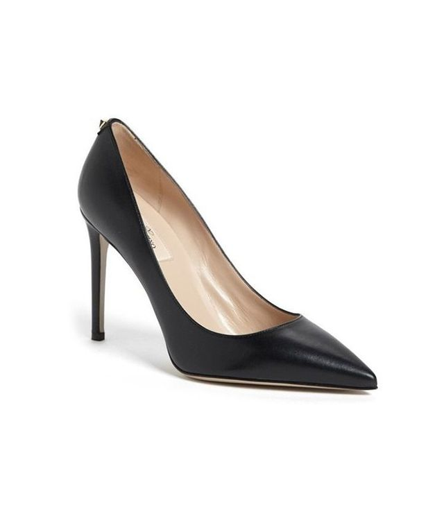 Valentino New Plain Pump Black Leather Stilettos