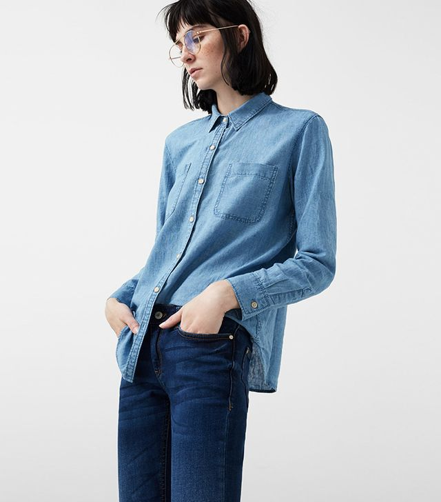 Linen-blend Denim Shirt