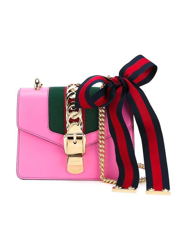 Gucci Sylvie Mini Leather Shoulder Bag
