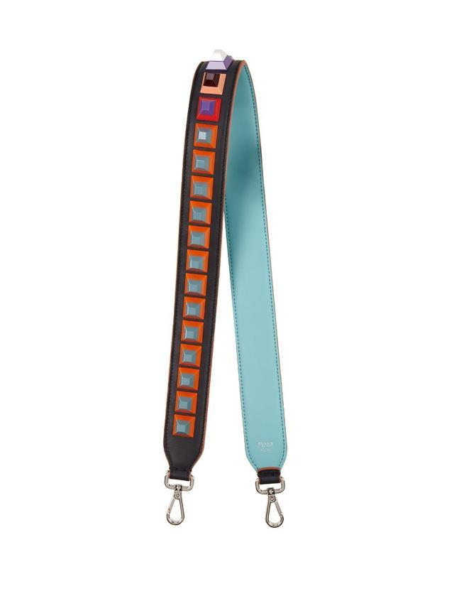 Fendi Strap You Stud-Embellished Leather Shoulder Strap