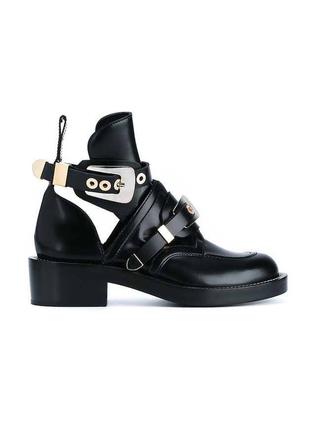 Balenciaga Apron Buckle Boots With Cut-out Detailing