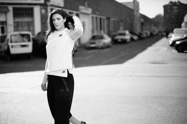 Serbian track and field star Ivana Spanovic in Nike's Tech Fleece gear.