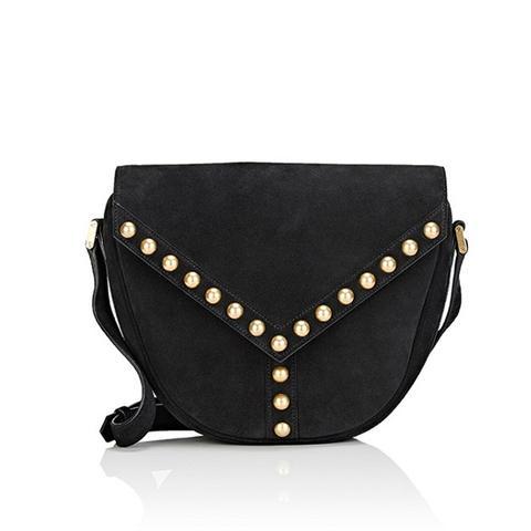 Y-Studded Shoulder Bag