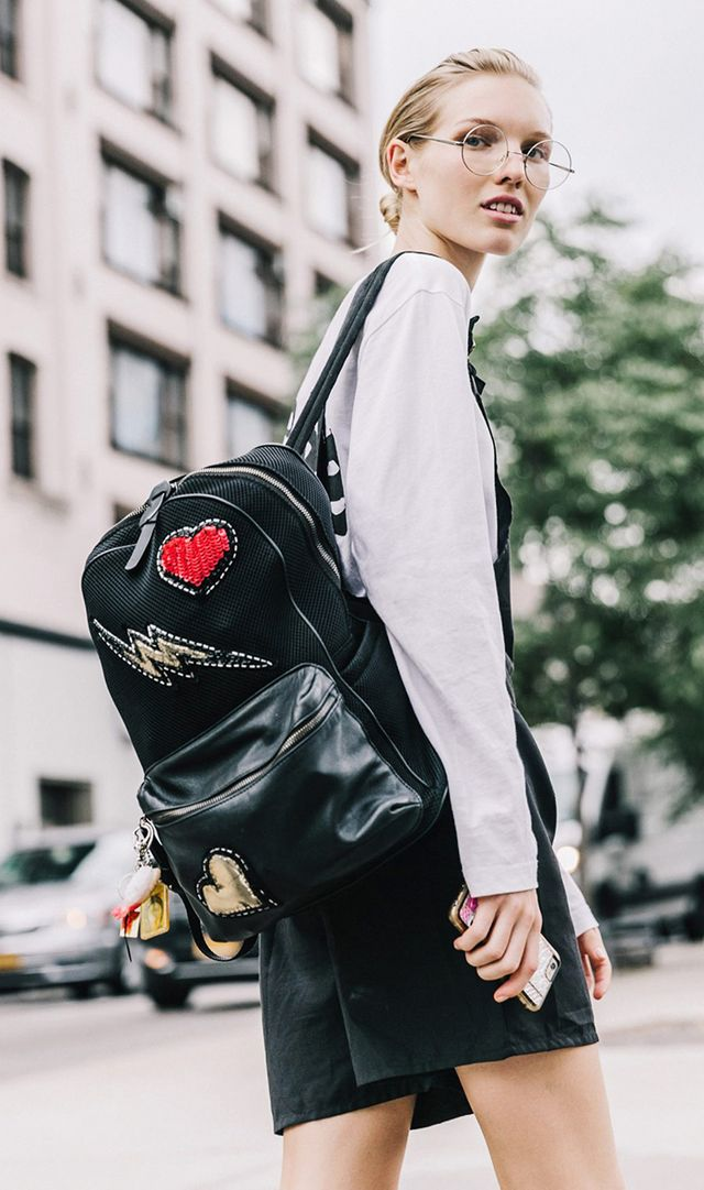 NYFW SS17 Backpack with Patches