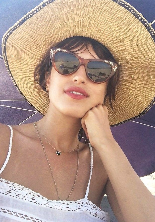 Jeanne Damas Gucci cat eye sunglasses