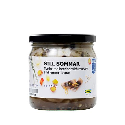 Sill Sommar Marinated Herring With Rhubarb and Lemon