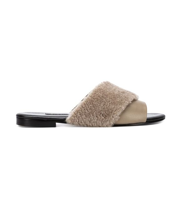 Newbark Shearling-Trim Sandals