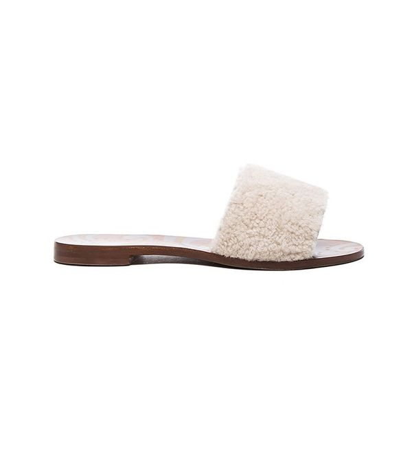 Avec Moderation Shearling Sandals