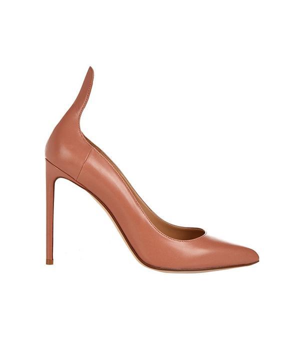 Francesco Russo Point-Toe Leather Pumps