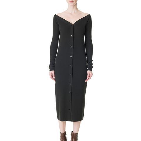 Merino Rib Décolleté Sweater Dress