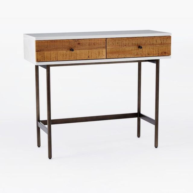 West Elm Reclaimed Wood + Lacquer Console