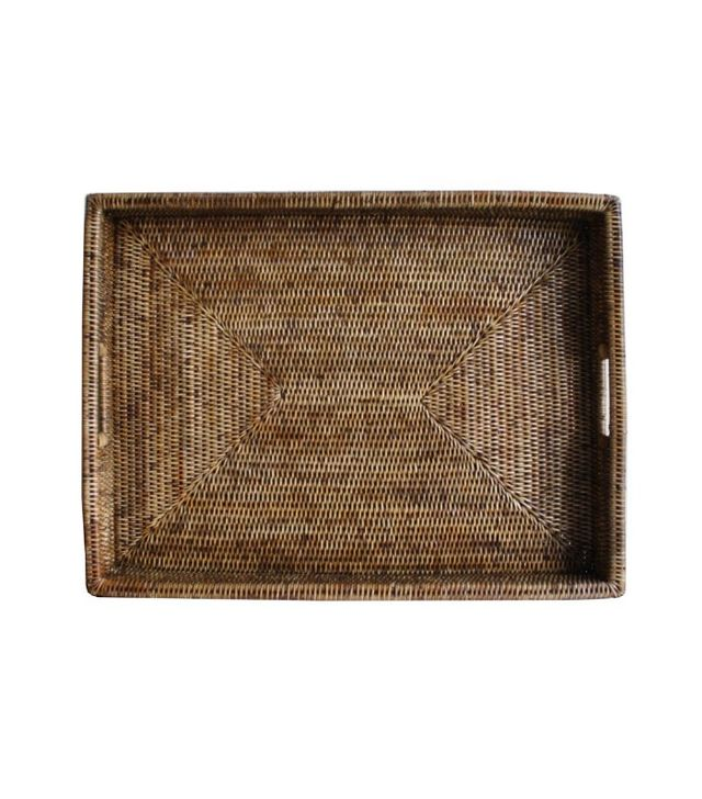 West Elm Raffia Trays