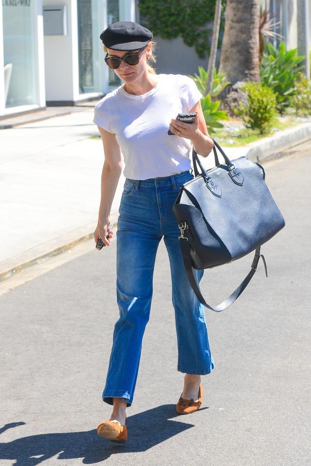 High-Waisted Jeans + Ballet Flats