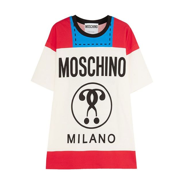 Moschino Printed Cotton-Jersey Tee