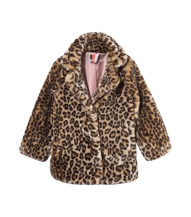MSGM Leopard Print Faux Fur  Coat