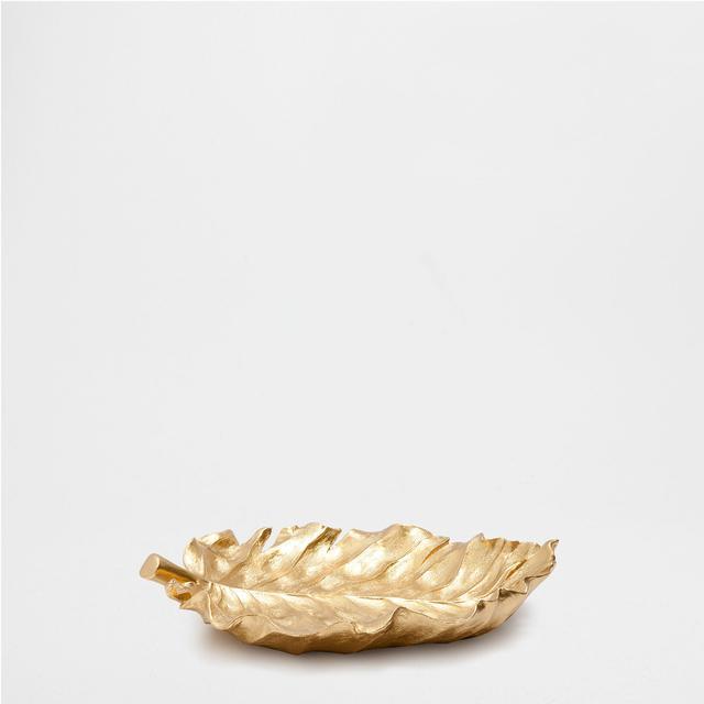 Zara Home Golden Leaf Decorative Tray