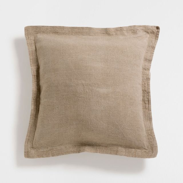 Zara Home Natural Linen Cushion Cover
