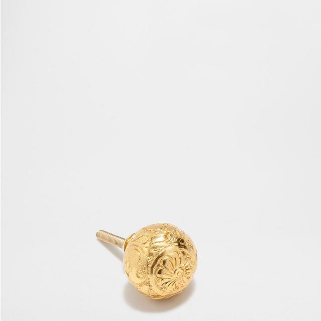Zara Home Knob with Raised Golden Design