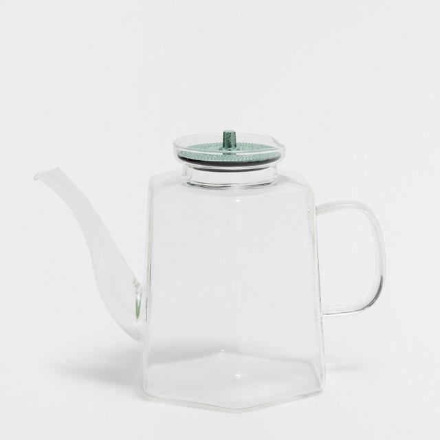 Zara Home Glass Teapot with Metal Lid
