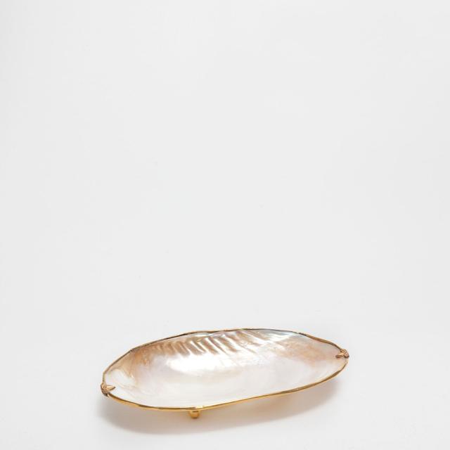 Zara Home Shell Soap Dish With Metallic Edge