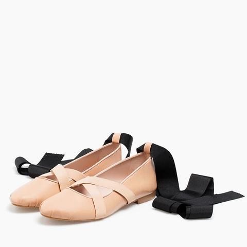 Lace-Up Ballet Flats