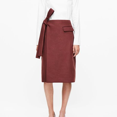 Rounded Wrap Skirt