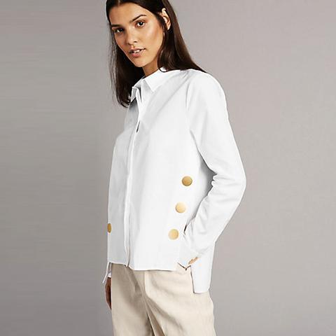 Button Detail Long Sleeve Shirt