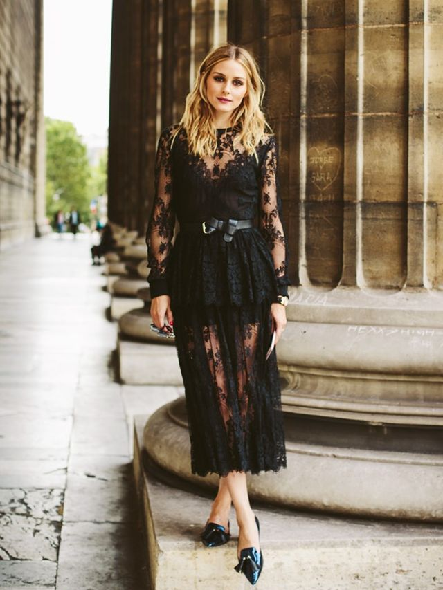 Style Notes: Proving you can wear lace in its most see-through form and still look classy, OP's Elie Saab dress looked incredibly elegant with Jimmy Choo flats.
