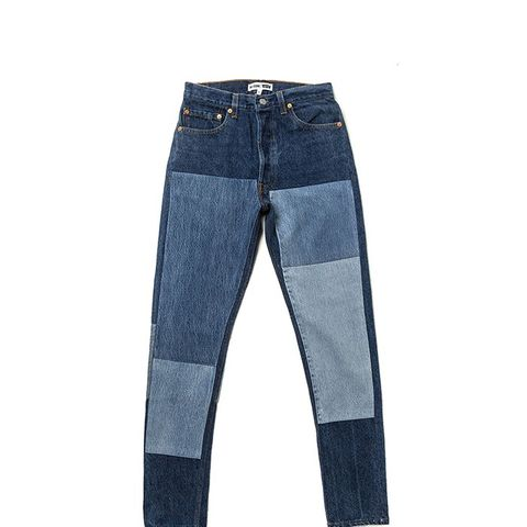 The High Rise Denim Patch Jeans
