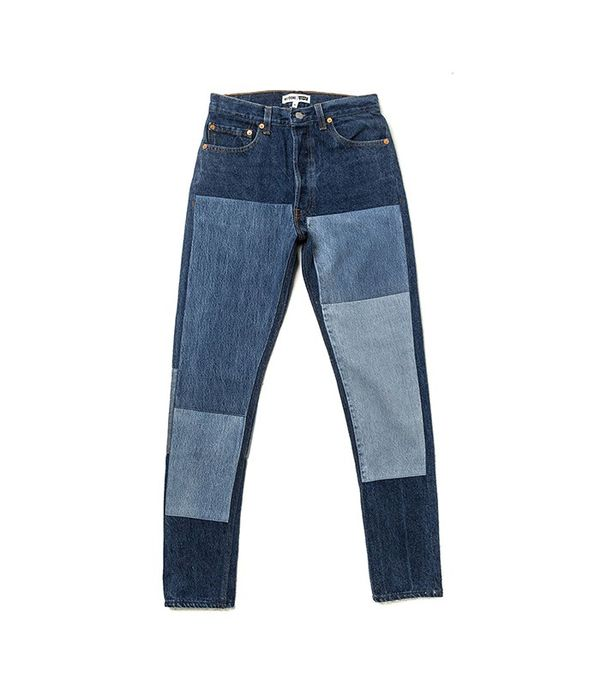 RE/DONE | Levi's The High Rise Denim Patch Jeans