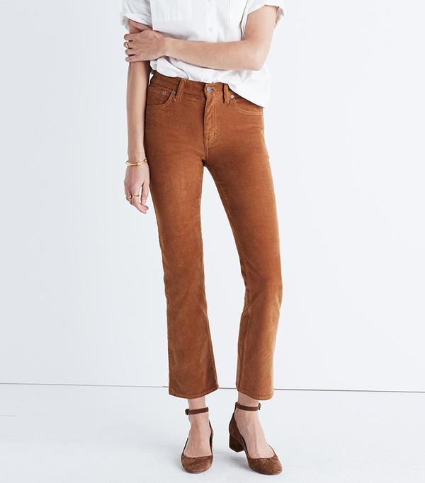 Madewell Cali-Demi Boot Jeans in Corduroy