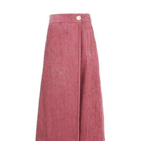 Courduroy Wrap Skirt