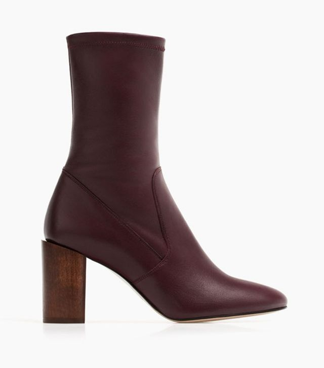 Uterque Nappa Ankle Boots