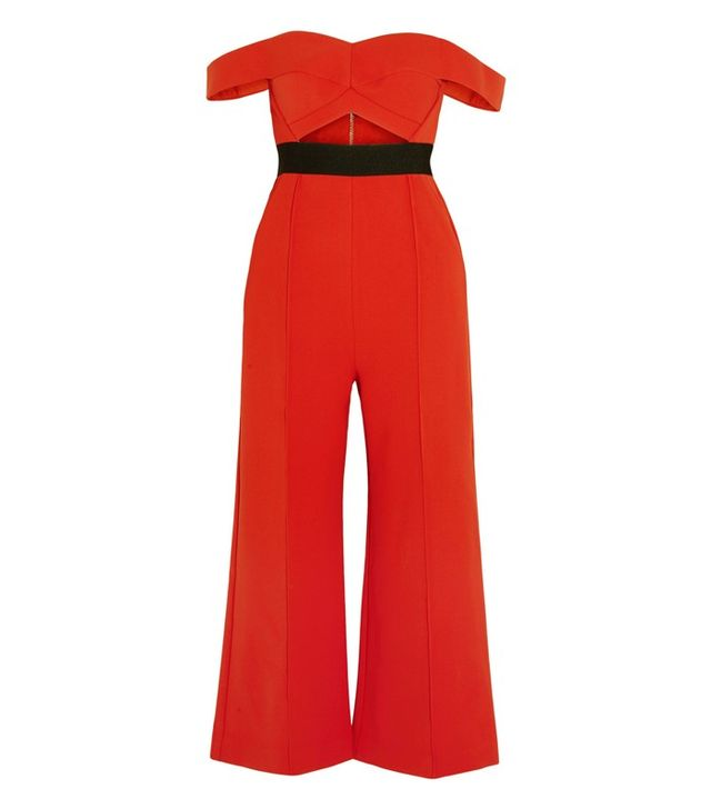 Self-Portrait Off-the-Shoulder Jumpsuit