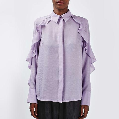 Jacquard Ruffle Shirt