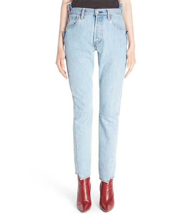 Vetements Reworked High Waist Jeans