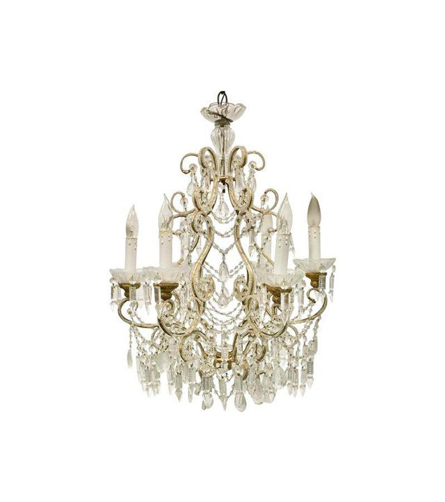 Chairish Vintage Crystal Drop Chandelier
