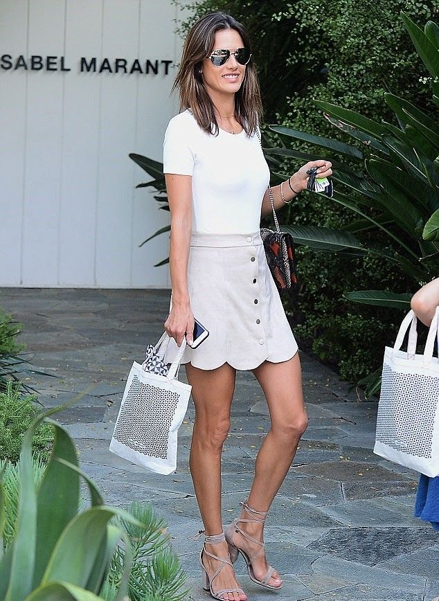 Alessandra Ambrosio Lovers + Friends Blue Moon Skirt