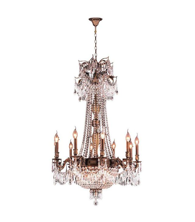 Worldwide Lighting Winchester 15-Light Antique Bronze and Clear Crystal Chandelier