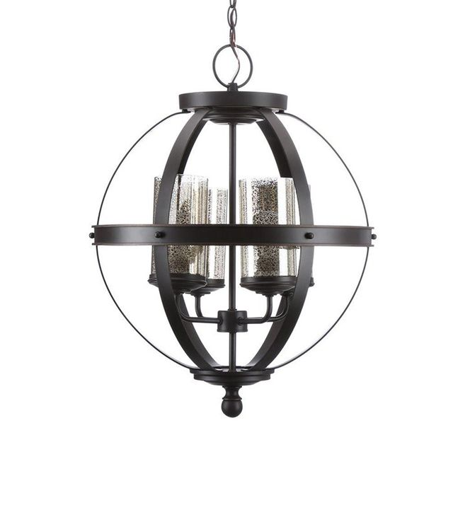 Sea Gull Lighting Sfera 4-Light Autumn Bronze Chandelier with Mercury Glass