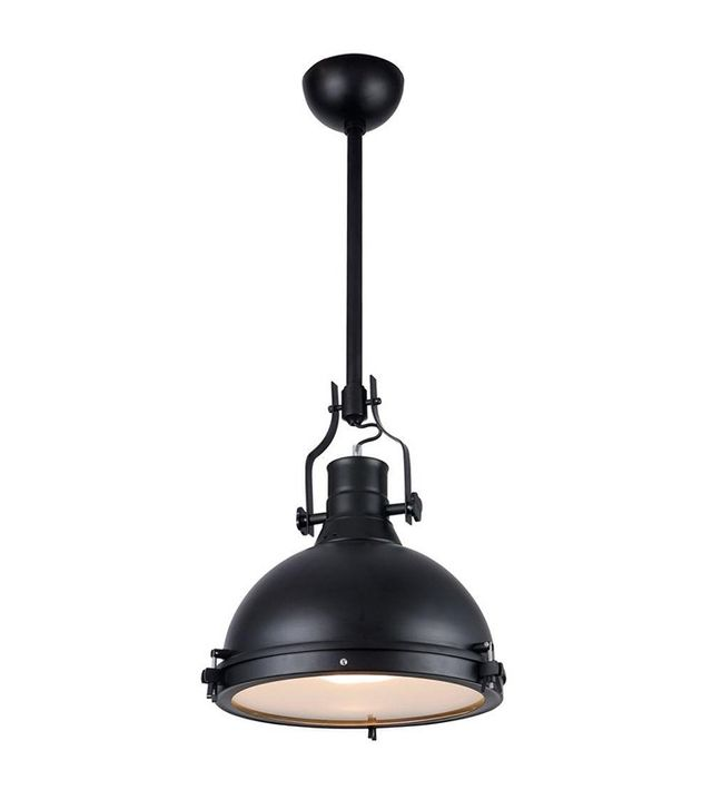 Elegant Lighting Industrial 1-Light Black Pendant Lamp