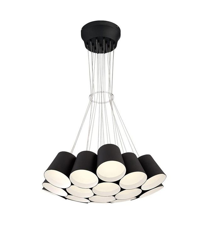 Eurofase Borto Collection 19-Light Black LED Chandelier