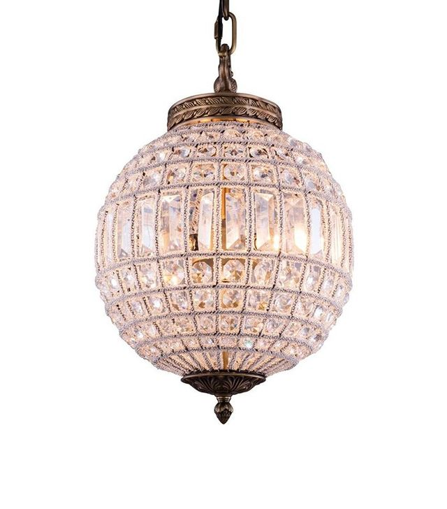 Elegant Lighting Olivia 1-Light French Gold Chandelier with Clear Crystal