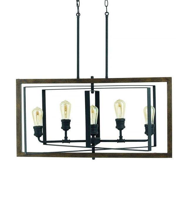 Progress Lighting Reserve Collection 5-Light Gilded Iron Linear Chandelier