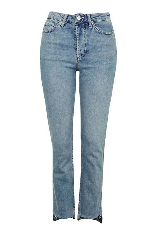 Topshop Step Hem Straight Leg Jeans
